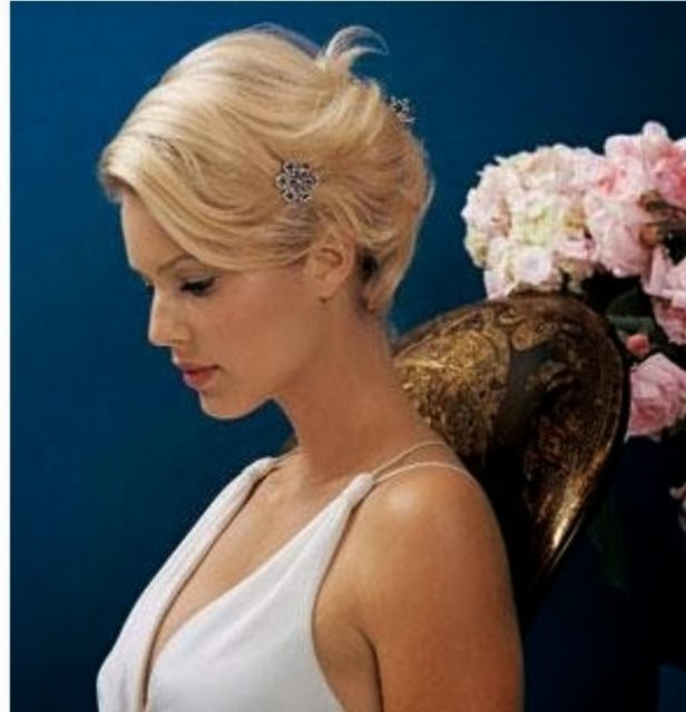 what to do with short hair for a wedding