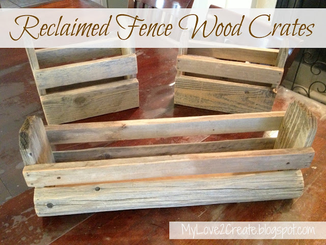 MyLove2Create, Reclaimed fence wood crates