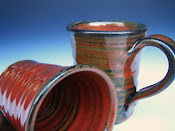 Large Mug. Randy's Red by Etsy Artist: darshanpottery