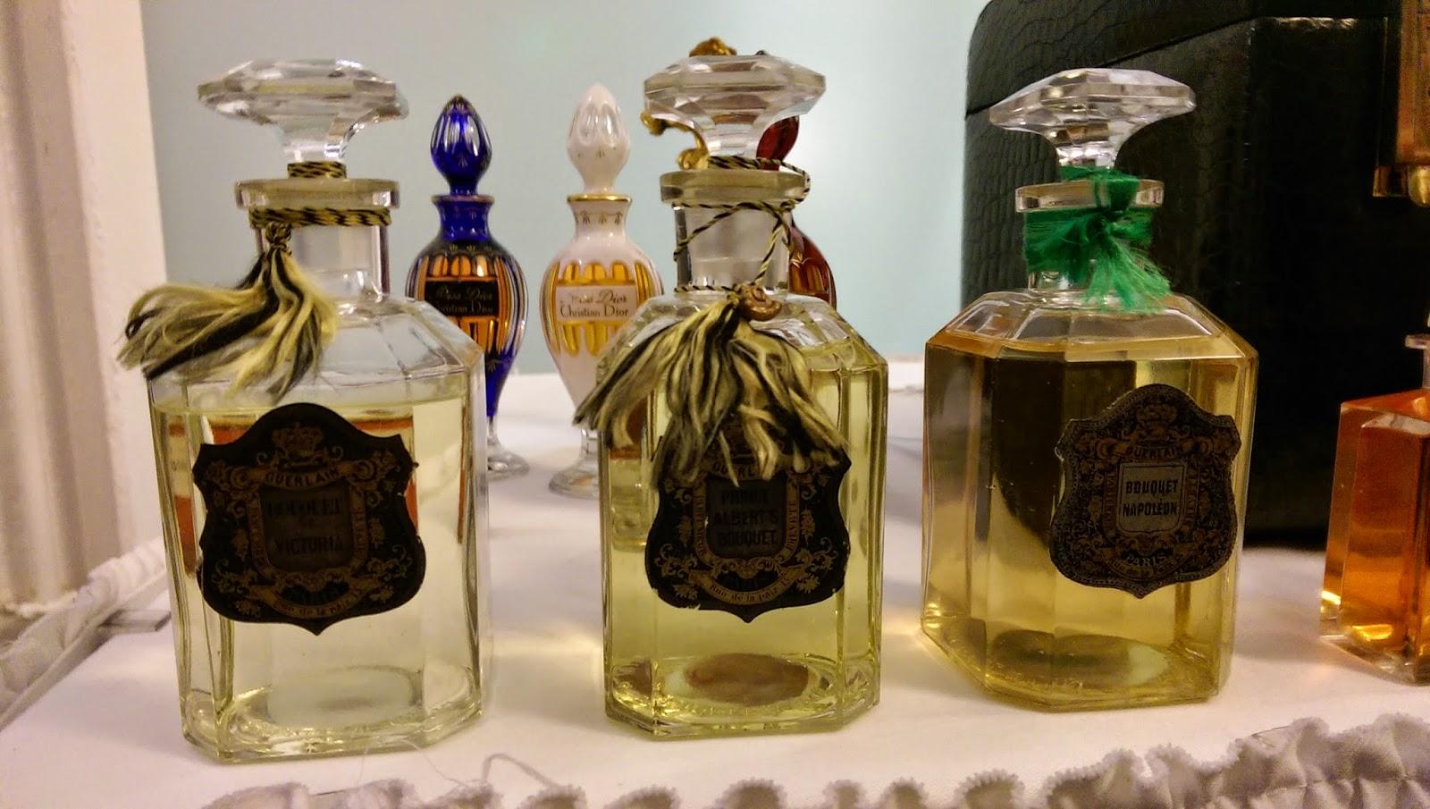 Perfume bottles belonging to Queen Victoria, Prince Albert and Napoleon