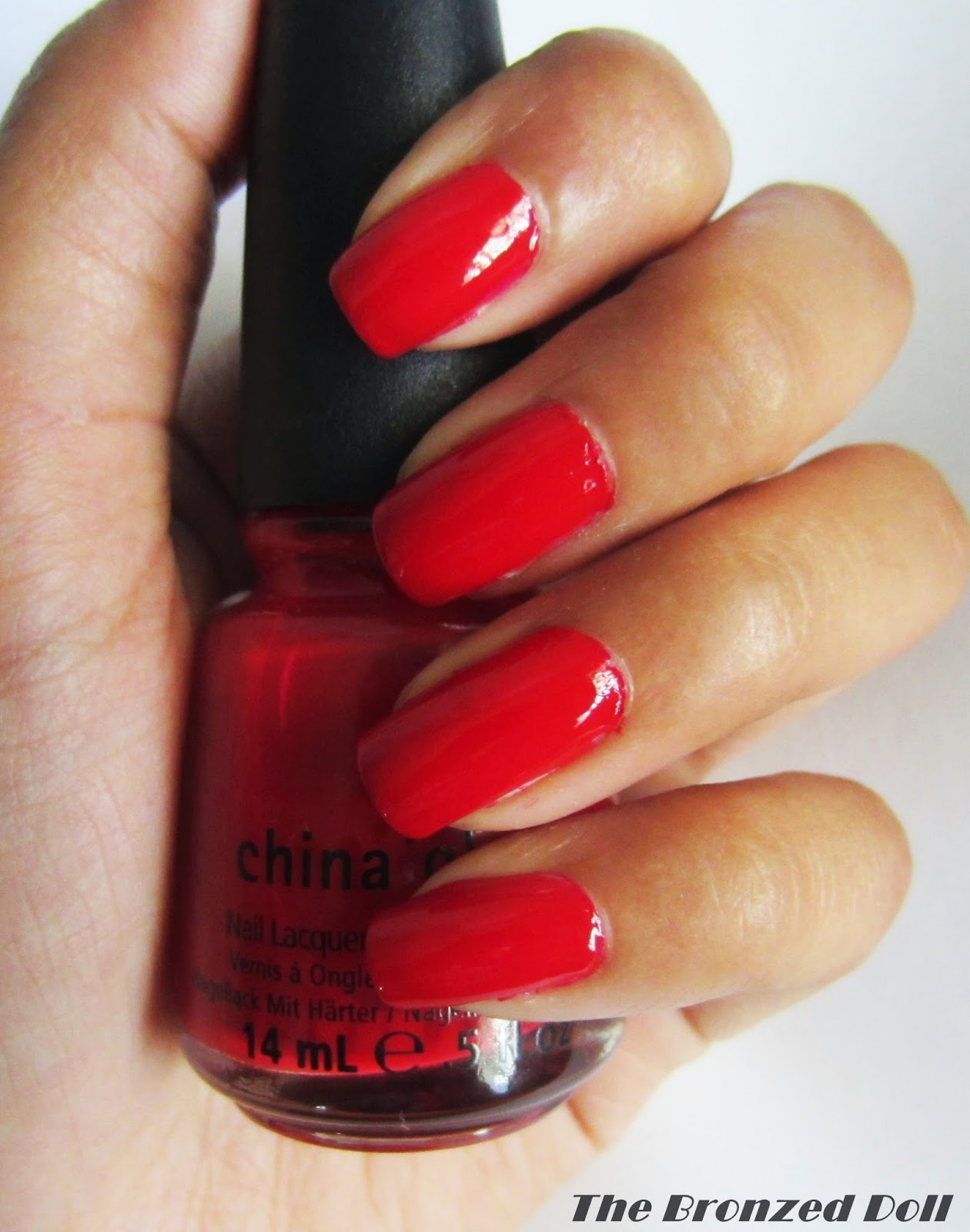 china laze poinsettia nail polish