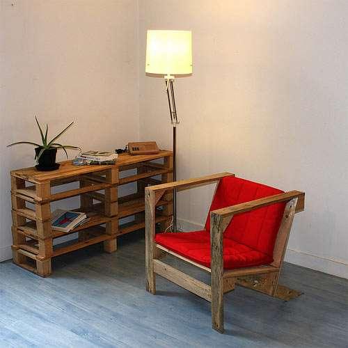 Muebles de palets sillones con palets - Sillones hechos de palets ...