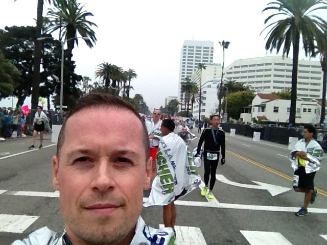 After LA Marathon Finish Line in Santa Monica