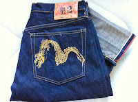 evisu gold dragon no2 size 32