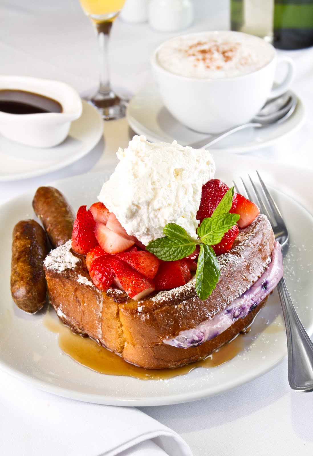 stuffed french toast and sausage