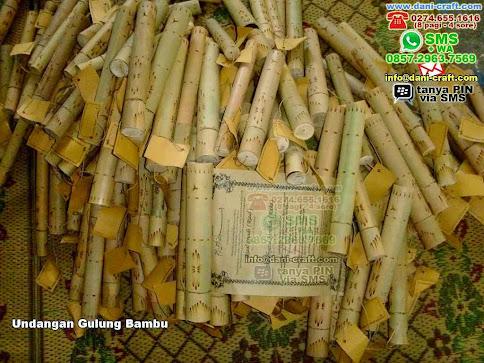 Undangan Gulung Bambu Bambusamson Gresik