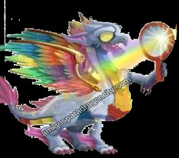 imagen del dragon arco iris de dragon city
