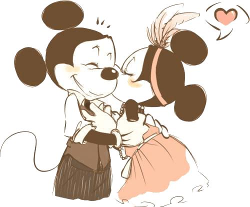Imagenes tiernas de mickey y minnie mouse