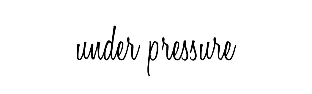 || under pressure ||