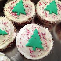 Christmas Sprinkles cupcakes
