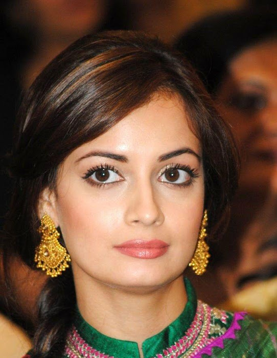dia mirza in green saree hd photo gallery