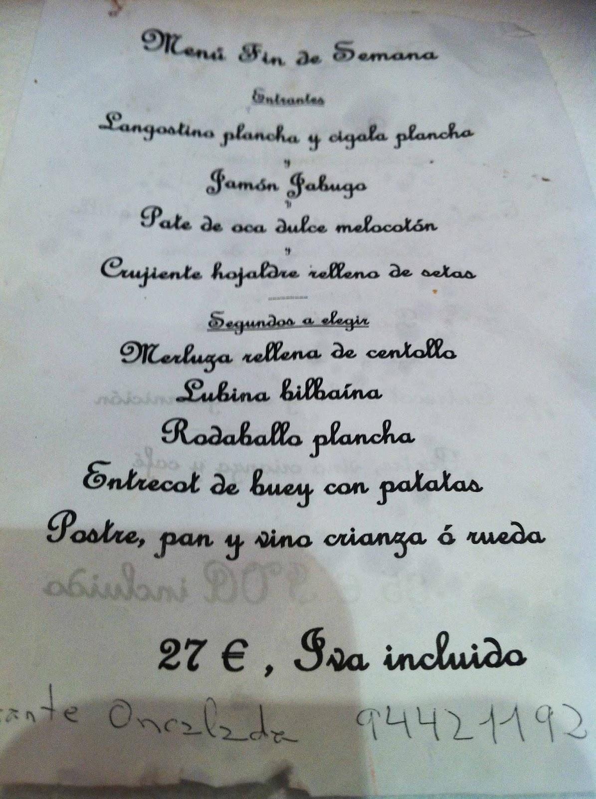 Restaurante-Oncalada-Bilbao-Menu