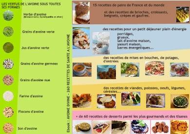 4 ebooks de recettes à l'avoine, spécial santé