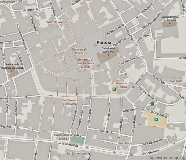 Pistoia Plan Miasta
