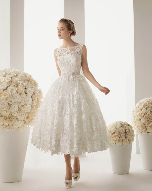tea length wedding gown