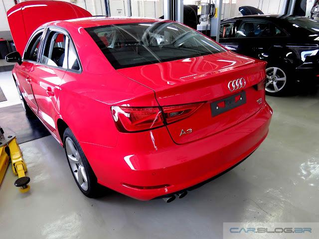 Audi A3 Sedan 1.4 Flex 2016 - vermelho
