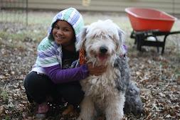 Jordie and her pet human, Alex
