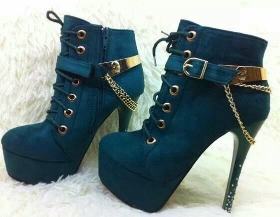 Amazing well-designed blue high heels