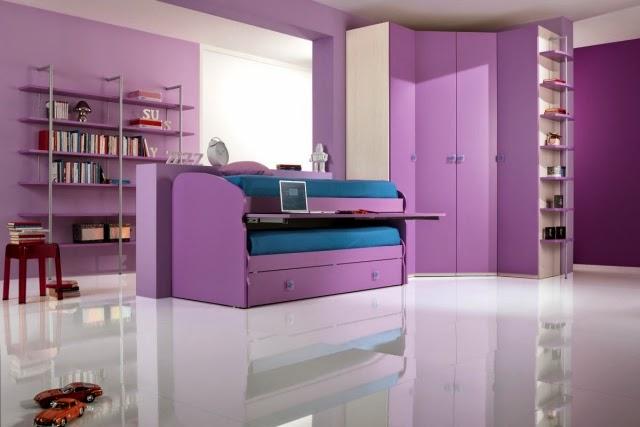 Cuartos de niñas en colores morados - Dormitorios colores ...