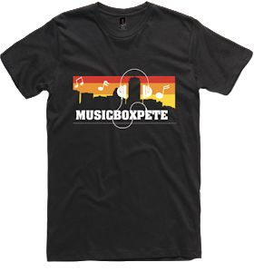 MusicBoxPete T-Shirts Now Available For Sale Via Bandcamp For $15!