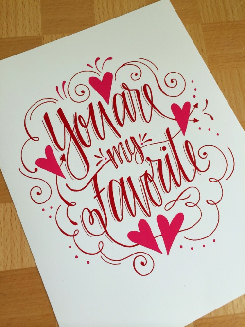 Lettering Lately blog > Valentine