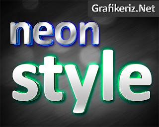 Photoshop Neon Yazı Stili [ Psd ]