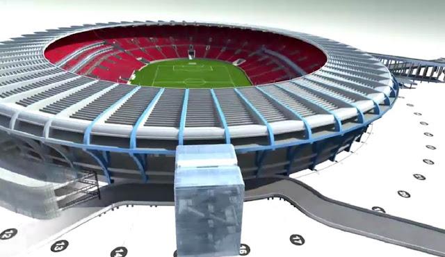 Fotos do projeto do novo estádio do Maracanã