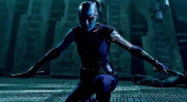 Karen Gillan as Nebula in Guardians of the Galaxy.