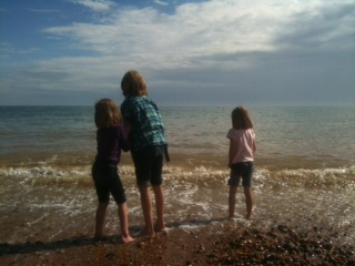 Brighton, beach, paddle, autumn, summer, kids, sea,