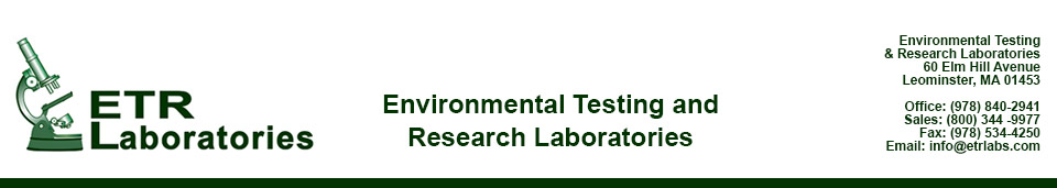 ETR Labs - Water testing, radon testing, mold testing, industrial solutions
