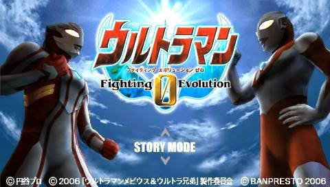 Ultraman Fighting Evolution 0 PSP PPSSPP