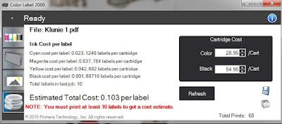 LX2000 Cost Per Label