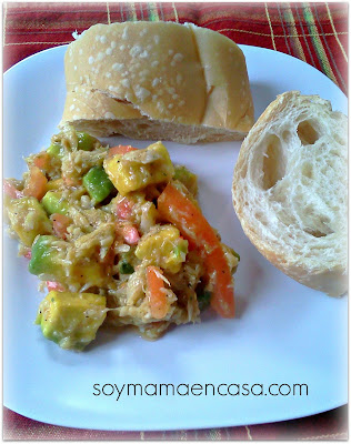 receta de ensalada de aguacate y atun