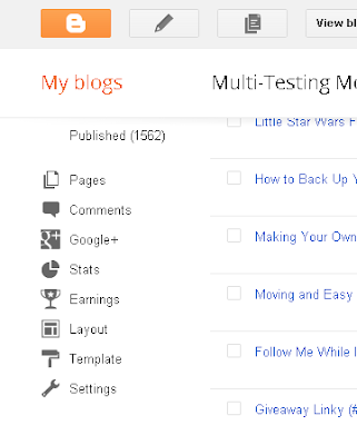 Backing up Template on Blogger