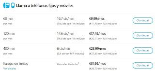 Tarifa plana llamadas a moviles de España Bonos de Skype