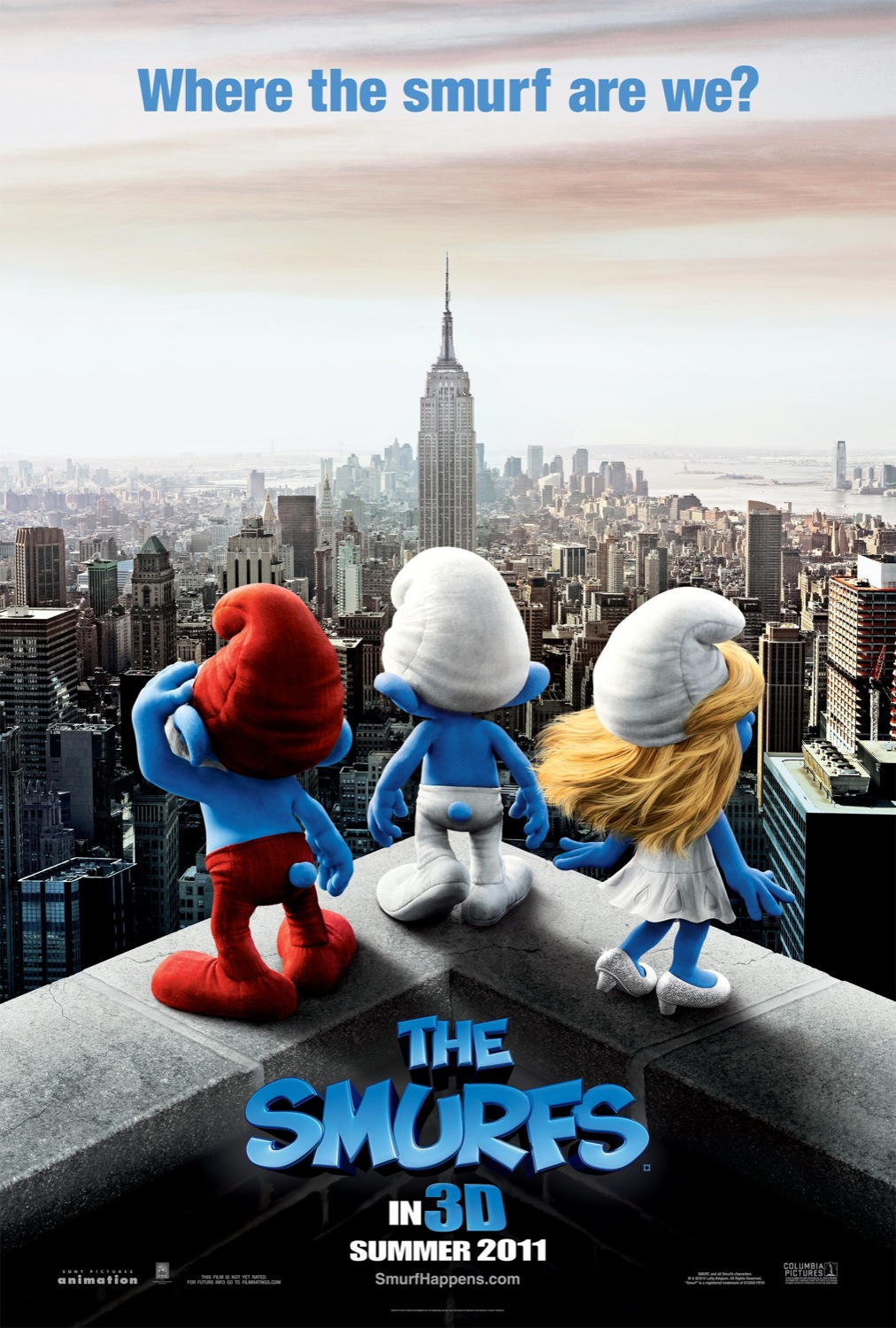 the smurfs 3d movie poster wallpapers cartoon wallpapers
