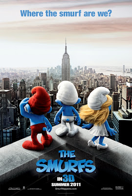 The Smurfs 3D Animation Movie Poster HD Wallpaper