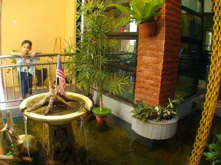 contoh gambar desain kolam ikan hias