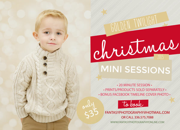 christmas mini photography sessions in winston salem | holiday minis