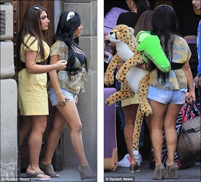 pictures of the jersey shore cast in italy. Jersey Shore cast touch down