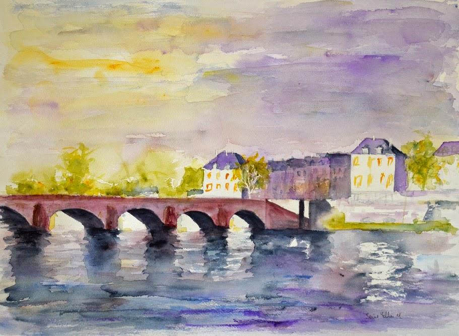 watercolor loire valley