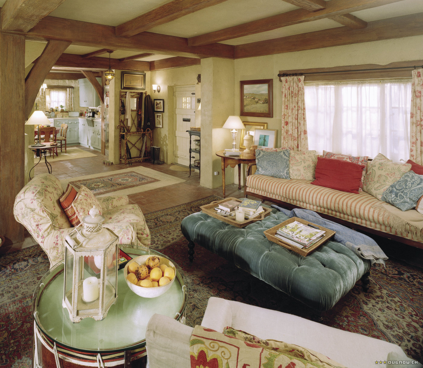 Modern country style the holiday houses living rooms for Modern country style
