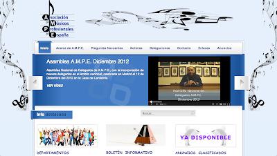La Asociación de Músicos Profesionales de España (A.M.P.E.) es una asociación sin ánimo de lucro creada en el año 1999 y cuyos principales objetivos son: Promover la defensa de los intereses y derechos de los músicos profesionales. Servir como foro de intercambio de conocimientos musicales.