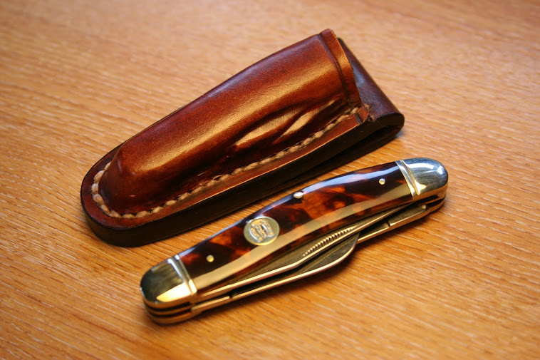 Wet mould sheath for 'Rough Rider' penknife