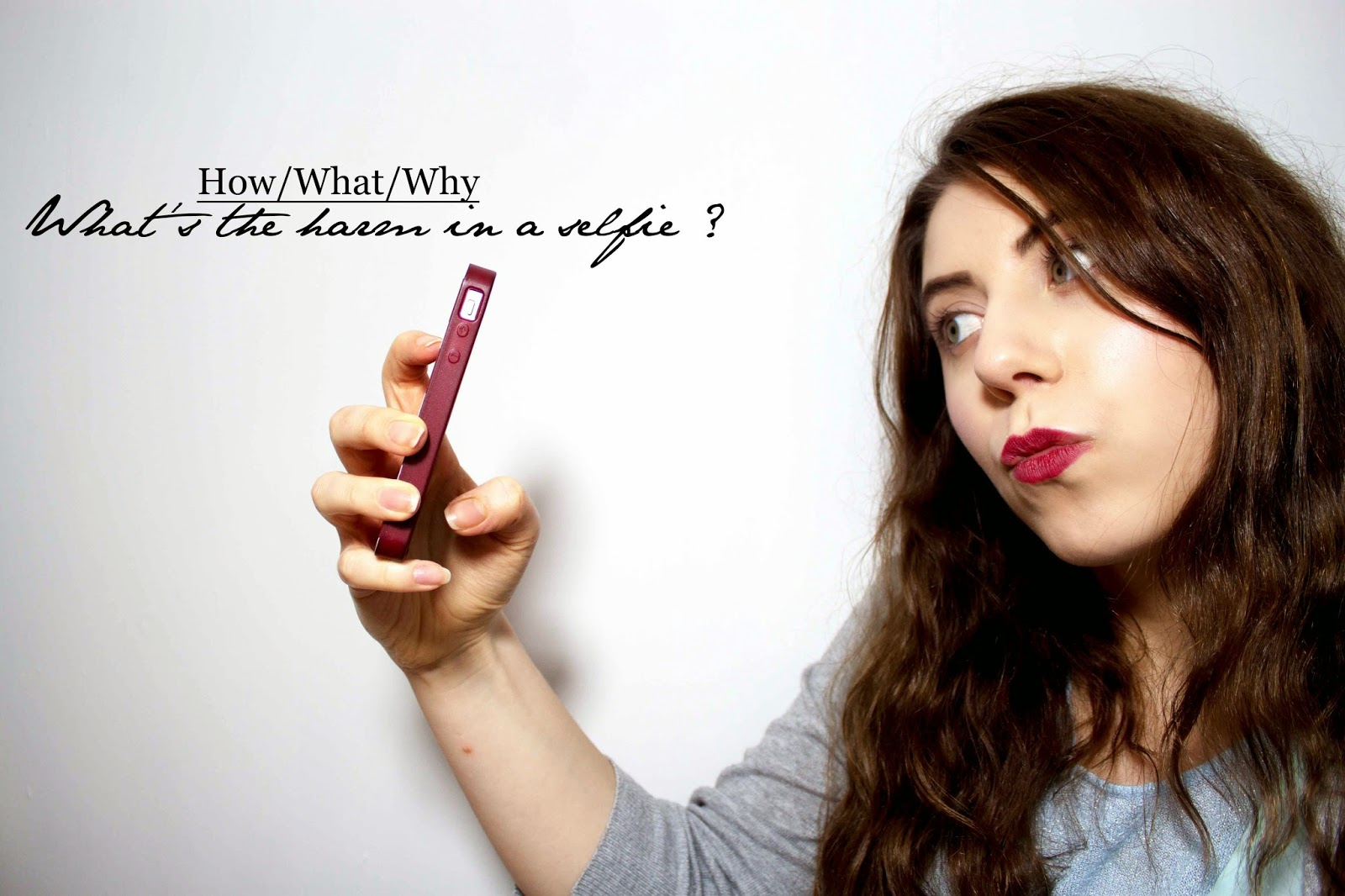 HOW/WHAT/WHY : WHAT'S THE HARM IN A SELFIE ?