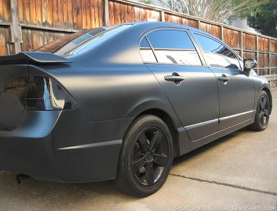 Matte black civic sport cars for Honda black car