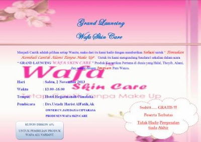 Wafa Skin Care Grand Launching