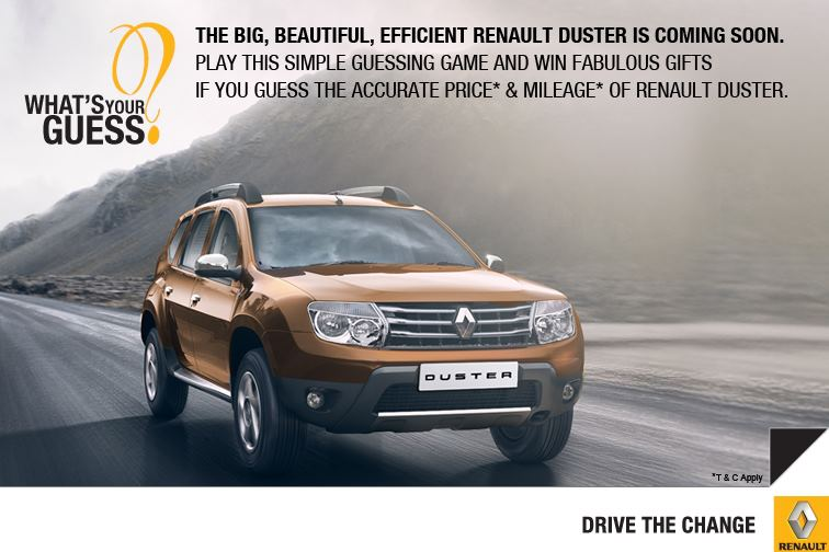 renault india begins pre launch promotional activities for