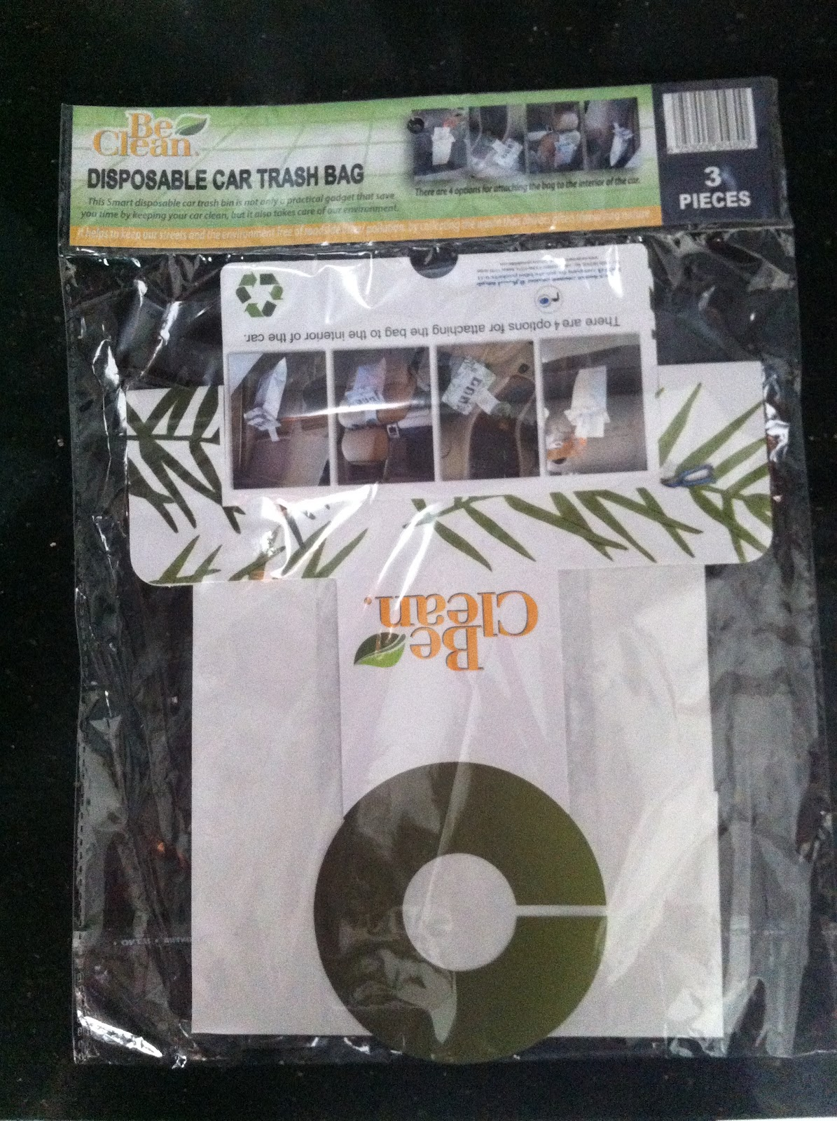 It Is The Be Clean Disposable Car Trash Bag And Can Purchased At Cozmo For 1250 JD With 3 Bags In Each Pack