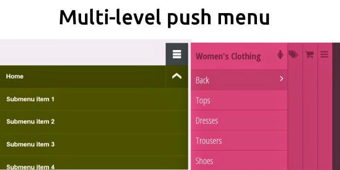 Multi-level Push menu